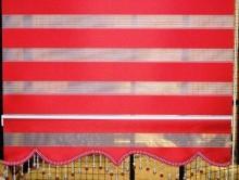 Kırmızı Zebra Perde | Perde